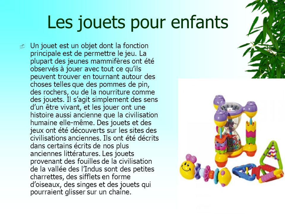 OBJET :Jouets pour enfants A.S. L.P. D.P.6 (Découverte Professionnelle 6h