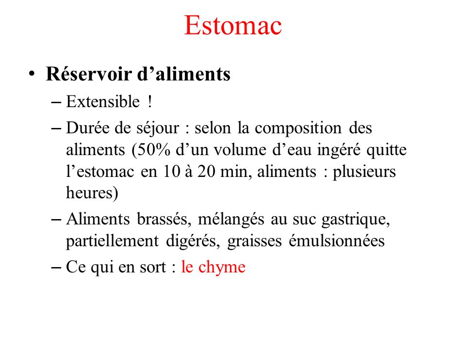 Estomac Réservoir daliments – Extensible .