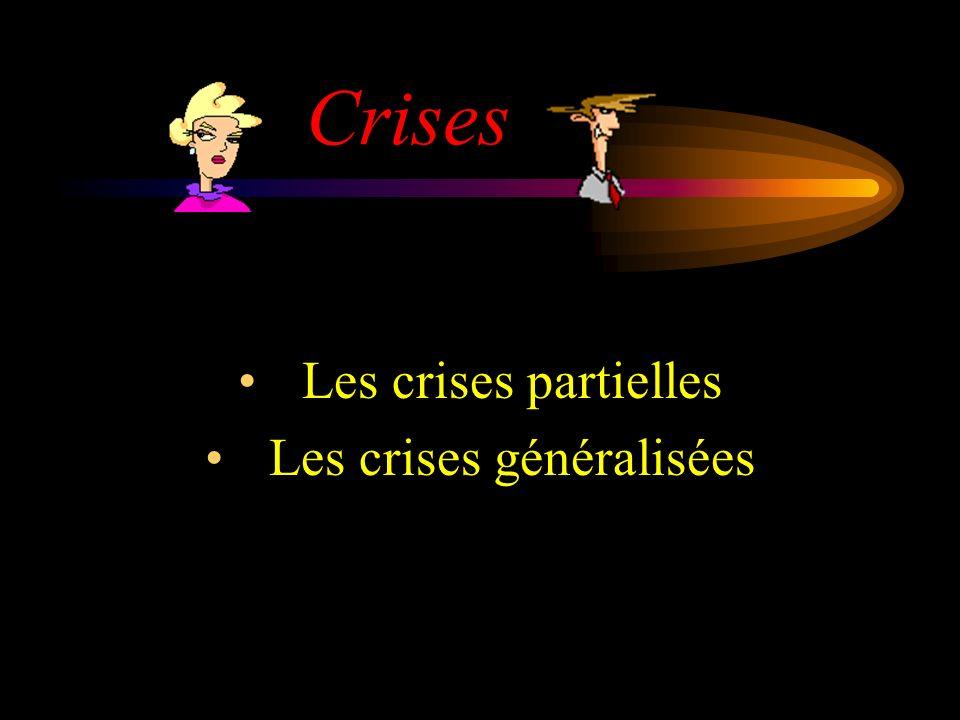 Crises Les crises partielles Les crises généralisées