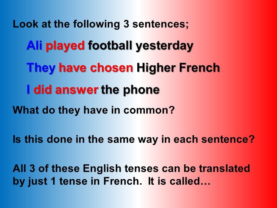Lets practice: avoir add the correct part of avoir to each sentence: 1.J fait mes devoirs 2.Nous fini lexercice.
