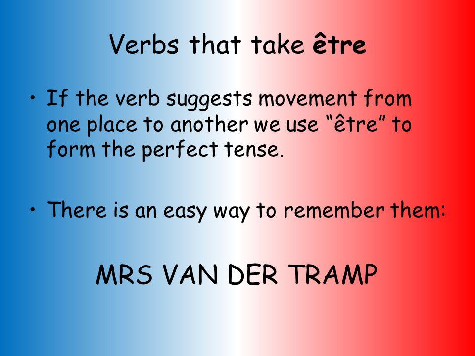 Complete the following sentences with the correct part of être & translate into English. 1)Il ______ allé au cinéma. 2)Nous ______ arrivés à 17h30. 3)
