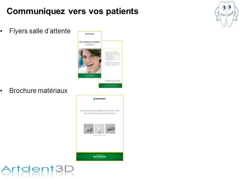 Communiquez vers vos patients Flyers salle dattente Brochure matériaux
