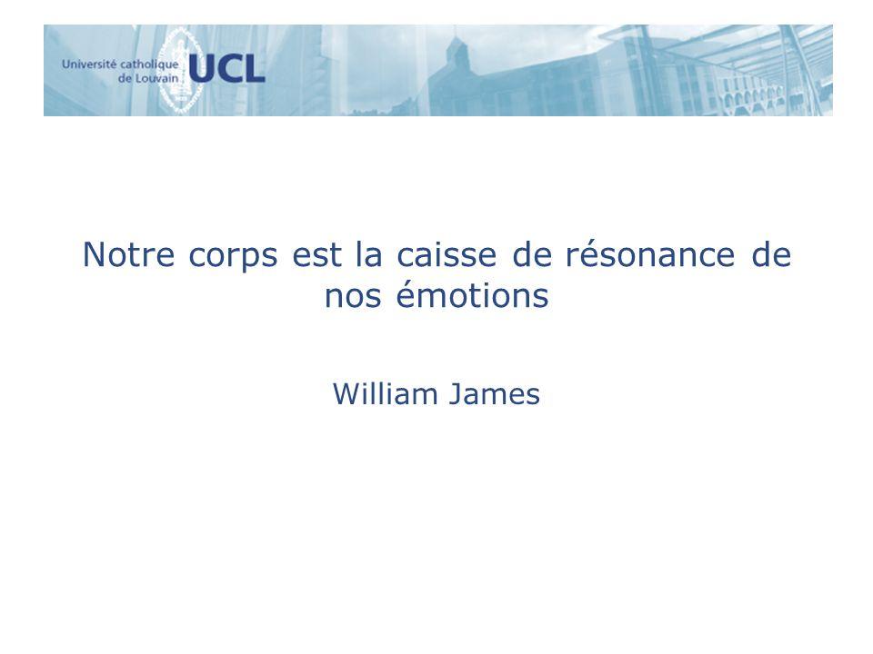 Notre corps est la caisse de résonance de nos émotions William James