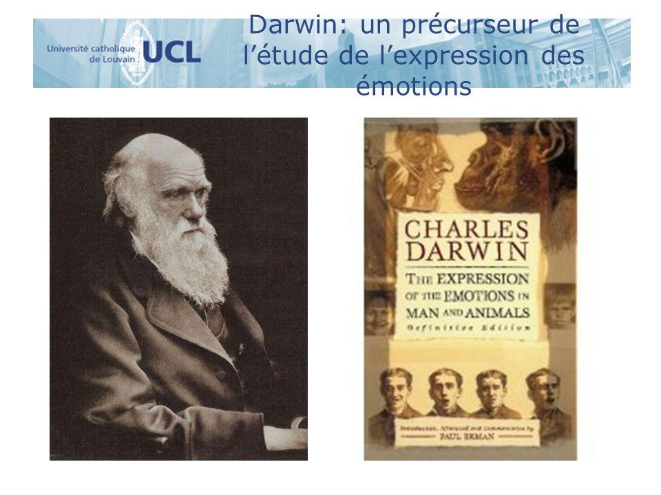 Darwin: un précurseur de létude de lexpression des émotions