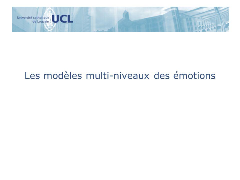 Les modèles multi-niveaux des émotions