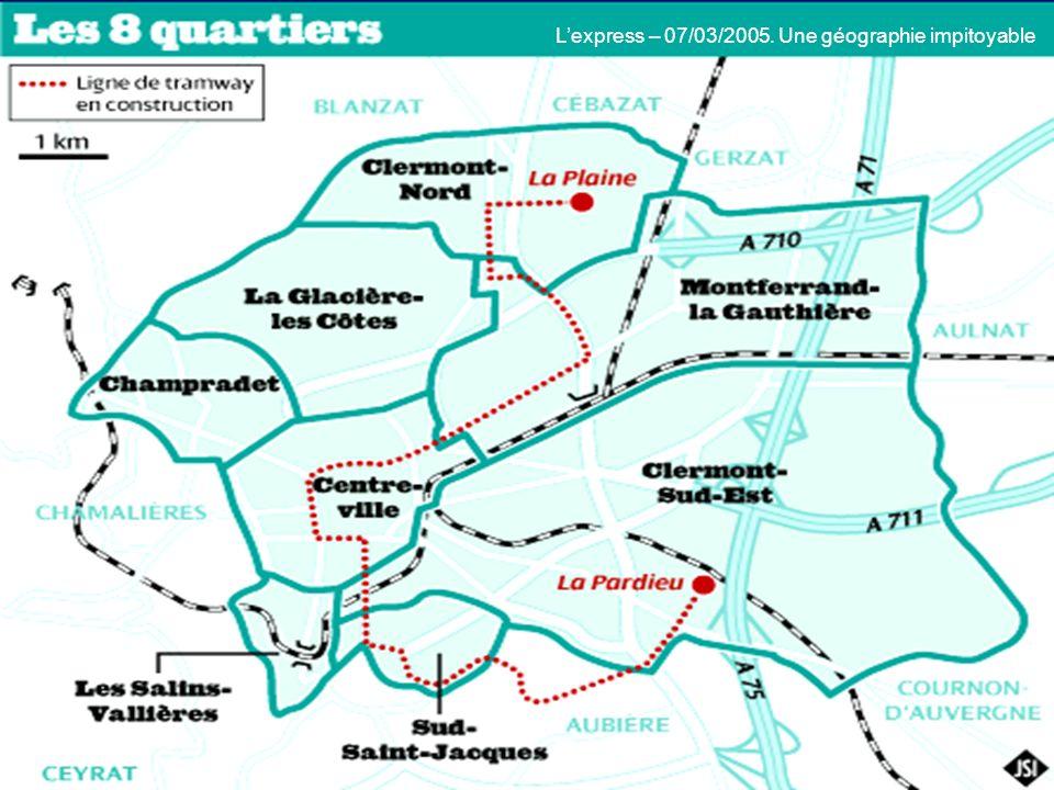 Lexpress – 07/03/2005. Une géographie impitoyable