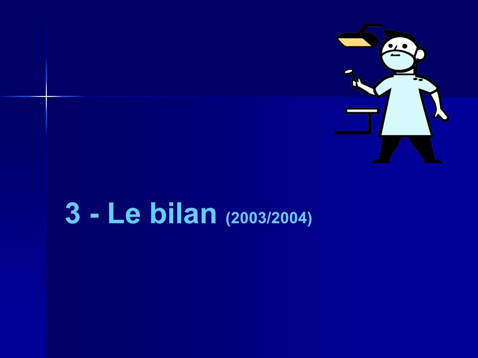3 - Le bilan (2003/2004)