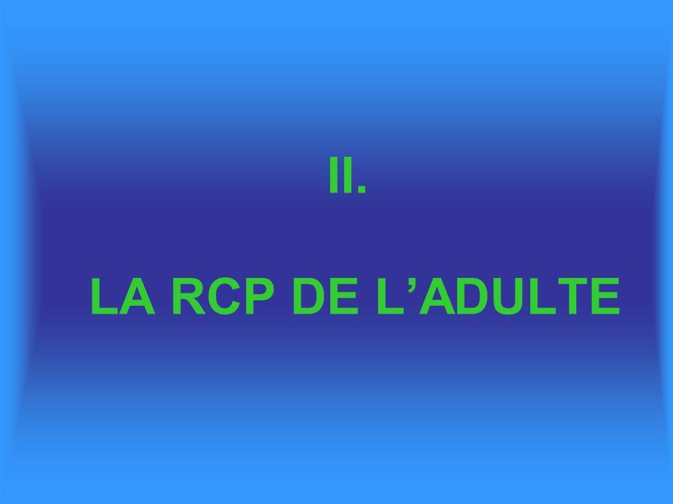 II. LA RCP DE LADULTE