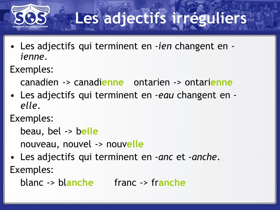 La négation The negative takes place as follows in the present tense: Subject + ne + conjugated verb + pas + object/the rest of the sentence –Par exemple: Je naime pas les pommes.