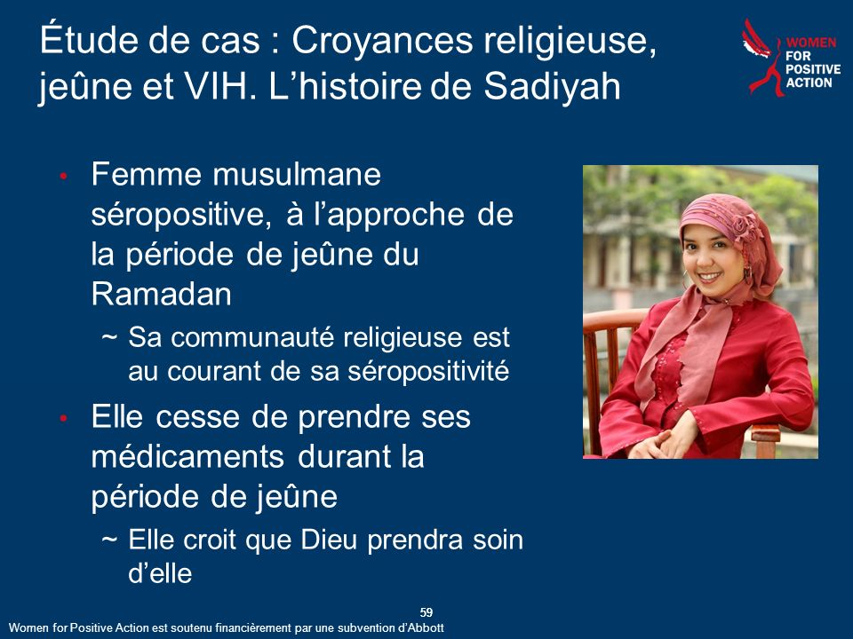 59 Étude de cas : Croyances religieuse, jeûne et VIH.