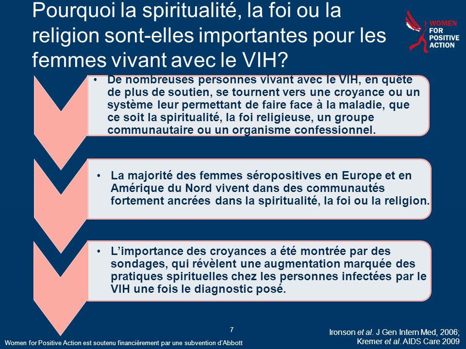 Pourquoi la spiritualité, la foi ou la religion sont-elles importantes pour les femmes vivant avec le VIH.