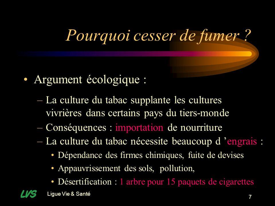 Ligue Vie & Santé 8 Pourquoi cesser de fumer .
