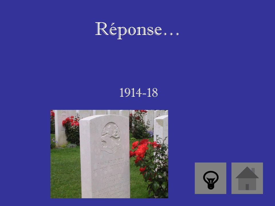 Réponse… Il était le premier ministre pendant la Première Guerre mondiale.