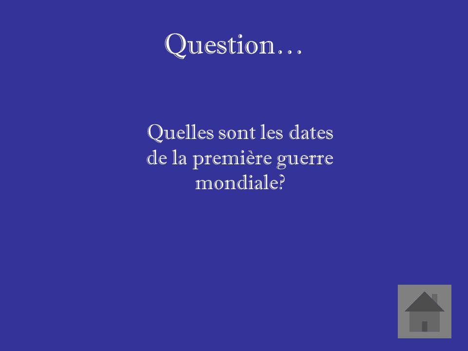 Question… Quest-ce que cest Ypres De la Somme Crête de Vimy ETC.