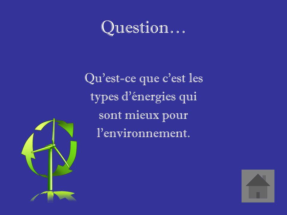 Réponse… Lénergie plus propre.