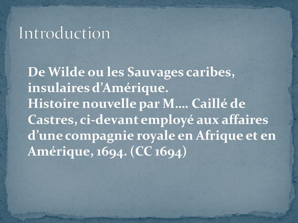 De Wilde ou les Sauvages caribes, insulaires dAmérique.