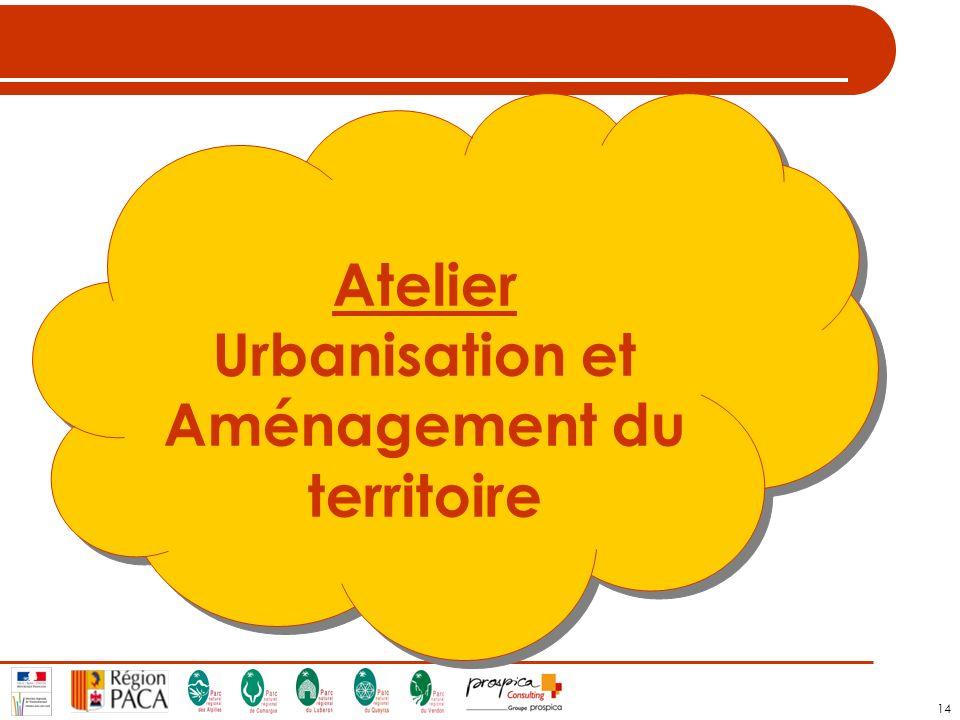 14 Atelier Urbanisation et Aménagement du territoire Atelier Urbanisation et Aménagement du territoire