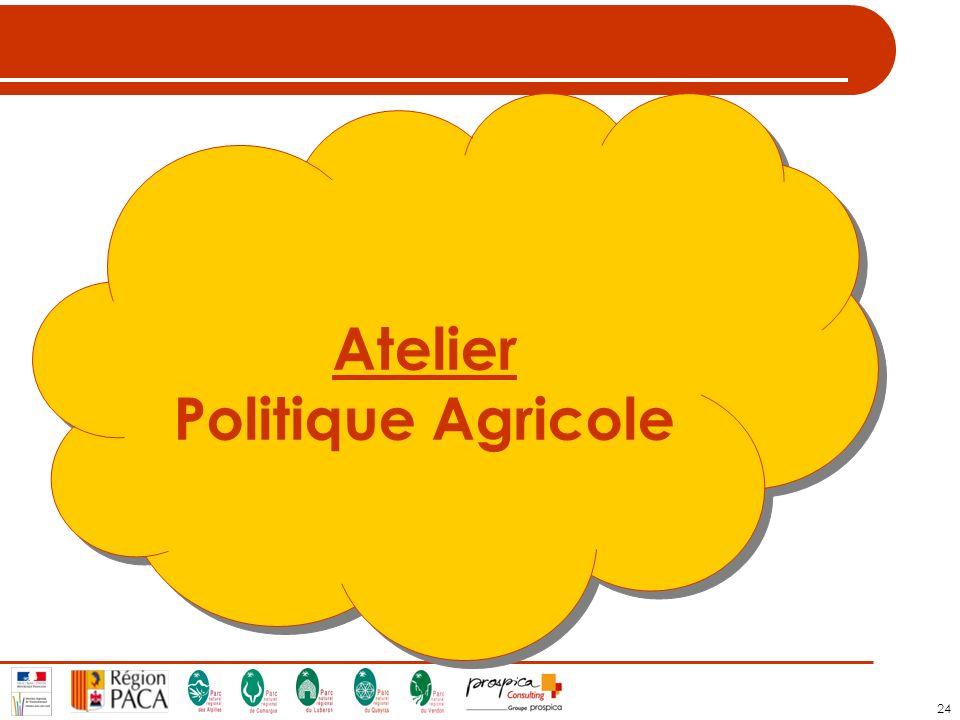 24 Atelier Politique Agricole Atelier Politique Agricole