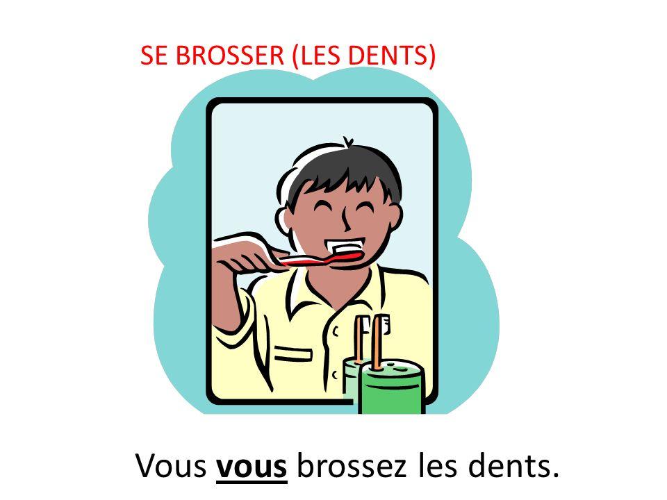 SE BROSSER (LES DENTS) Vous vous brossez les dents.