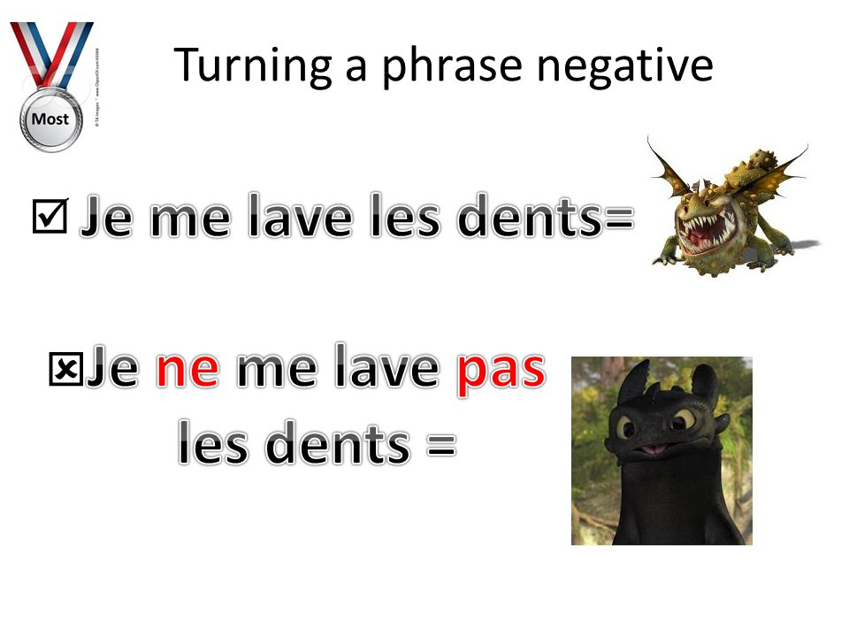 Turning a phrase negative