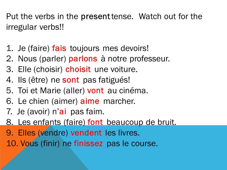 Adjectives ending in...ExampleMas. Sing.Fem. Sing.Masc.