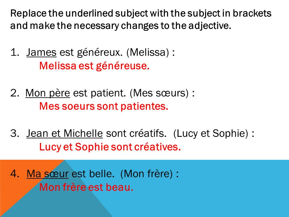 LES VERBES RÉFLÉCHIS Les verbes réfléchis have a pronoun that goes in between the subject (i.e : Je) and the verb (i.e : brosser).