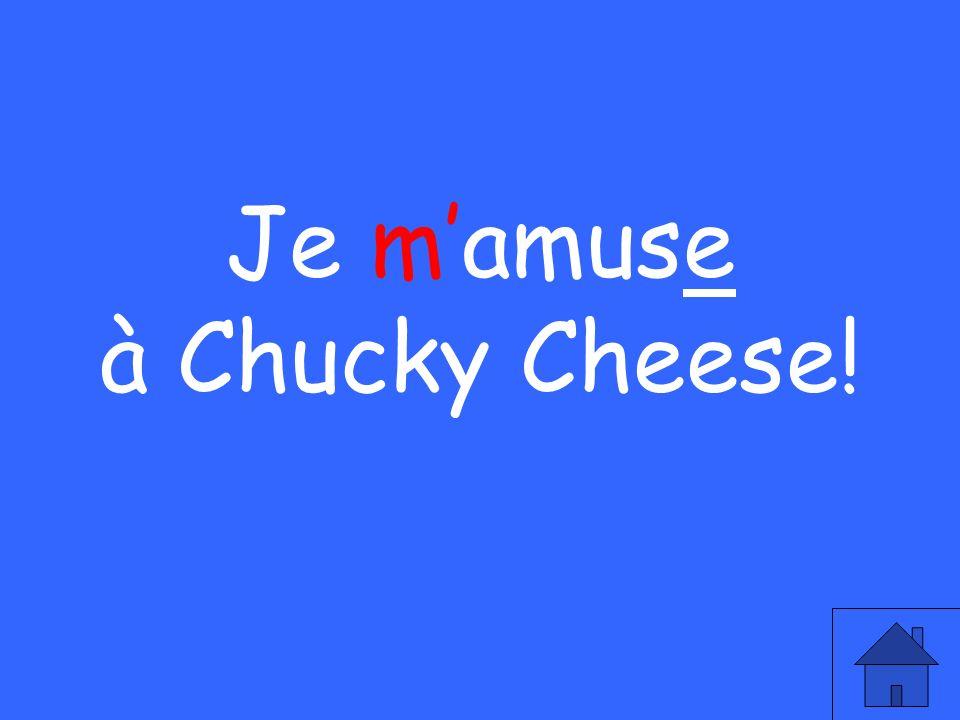 Je mamuse à Chucky Cheese!