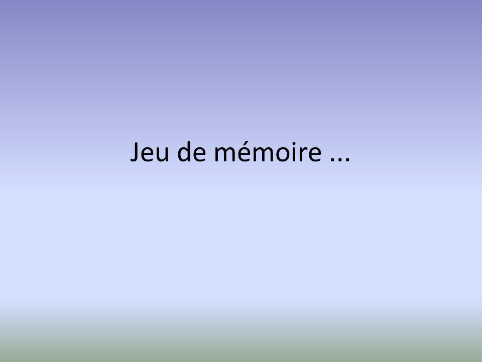 Jeu de mémoire...