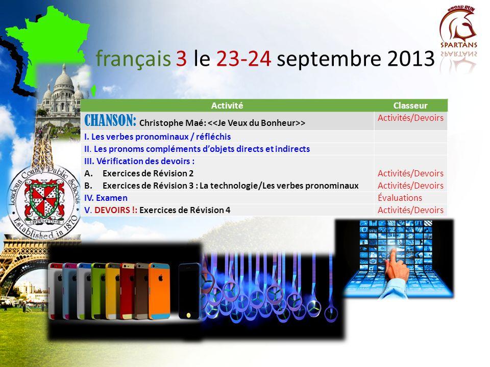 français 2-3-AP ® langue et culture Dr. DiNicola 2013-2014 Salle 122
