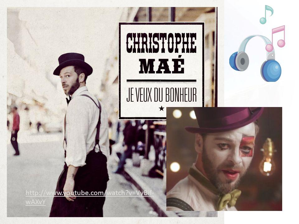 français 3 le 23-24 septembre 2013 ActivitéClasseur CHANSON: Christophe Maé: > Activités/Devoirs I.