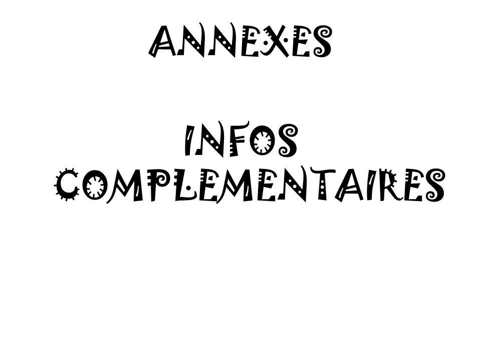 ANNEXES INFOS COMPLEMENTAIRES
