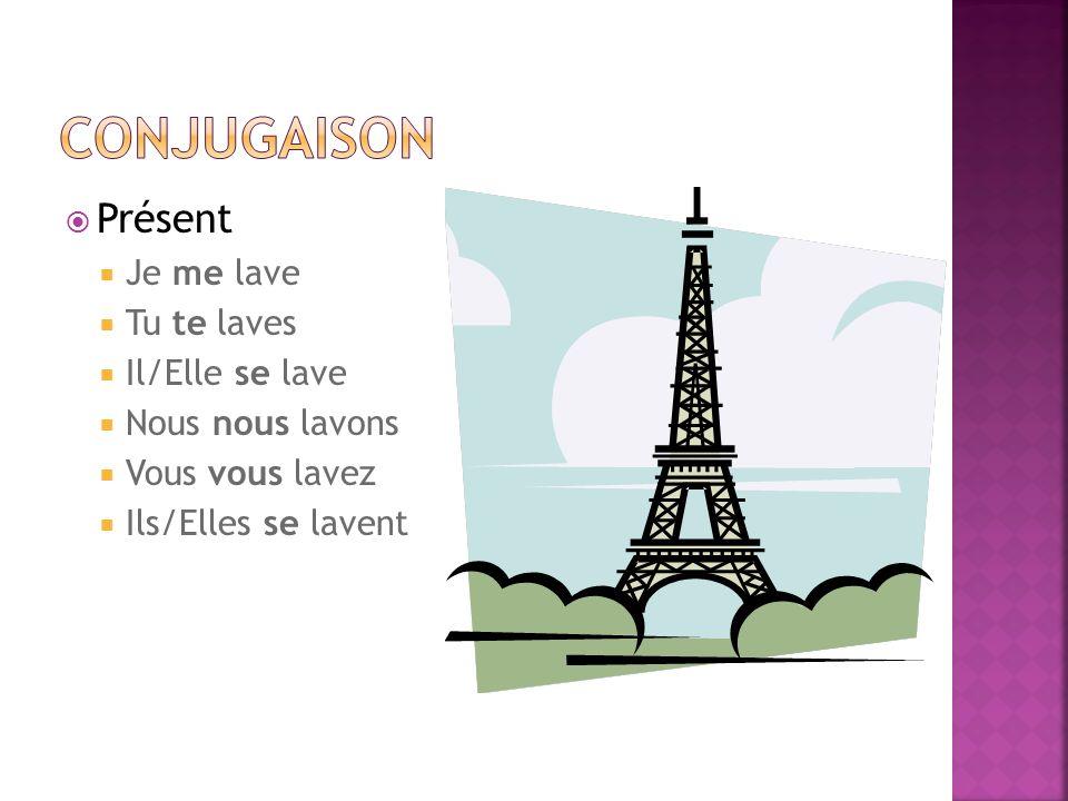 Conjuguez les verbes en français.
