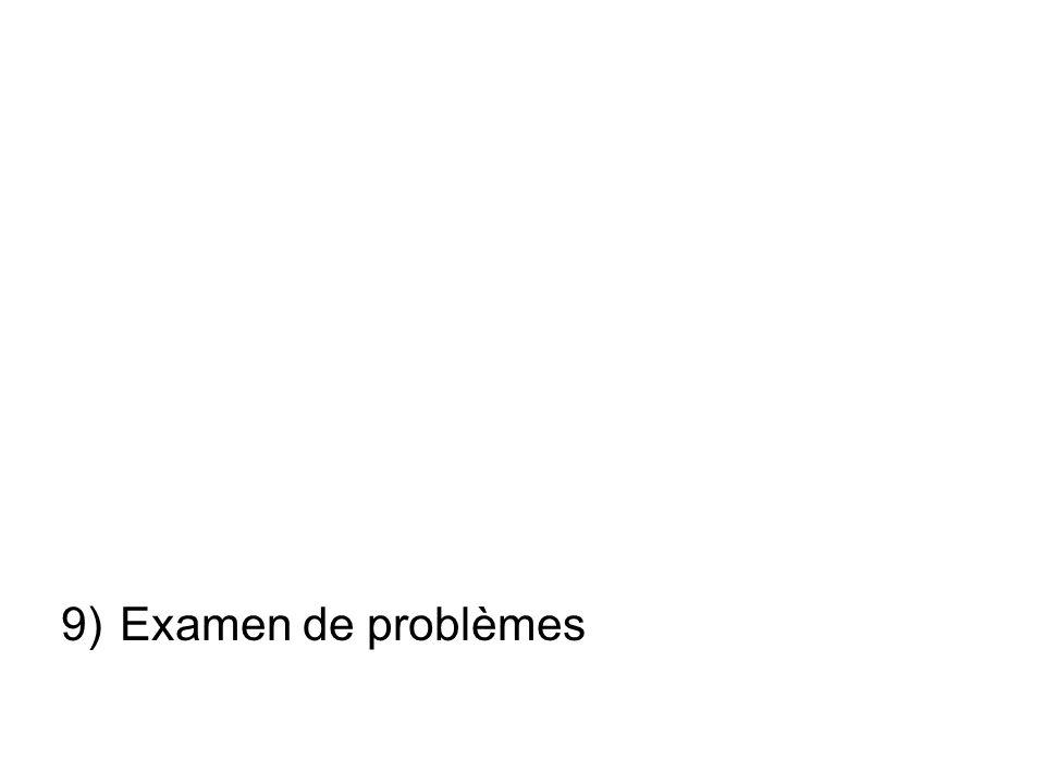 9)Examen de problèmes