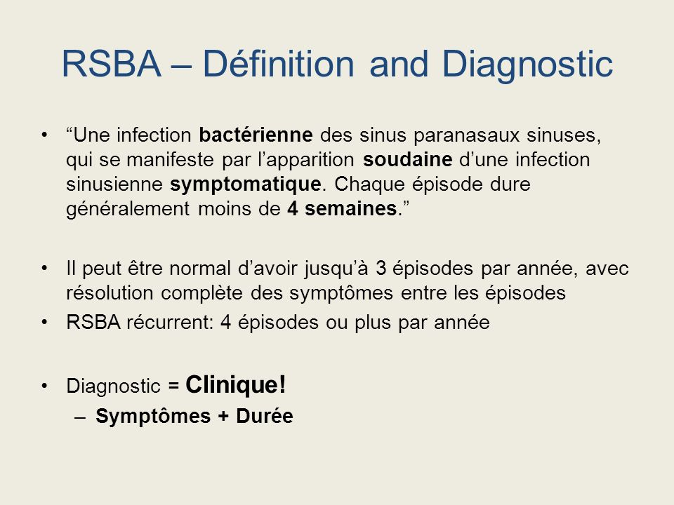 Infection Bactérienne des Sinus