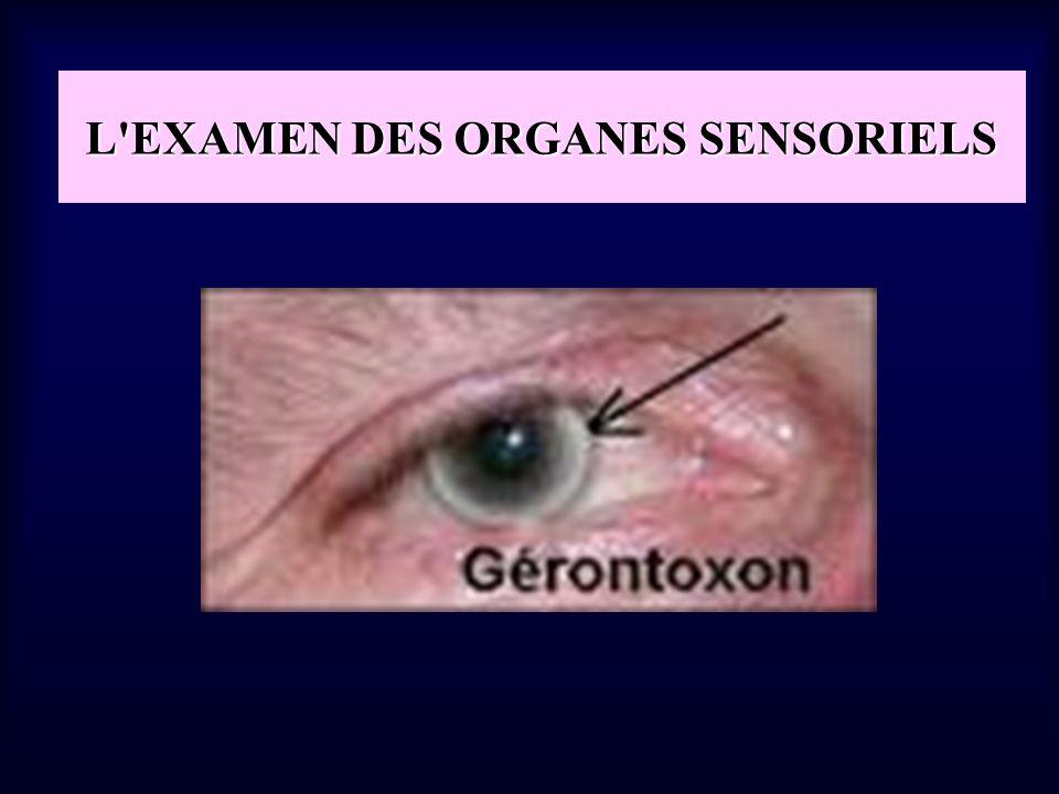 L'EXAMEN DES ORGANES SENSORIELS