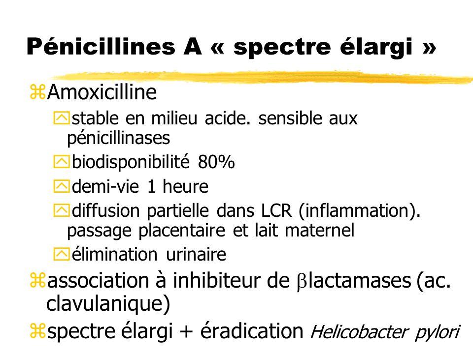 Effets indésirables des céphalosporines zHypersensibilité : ycroisée avec pénicillines 10- 20%.
