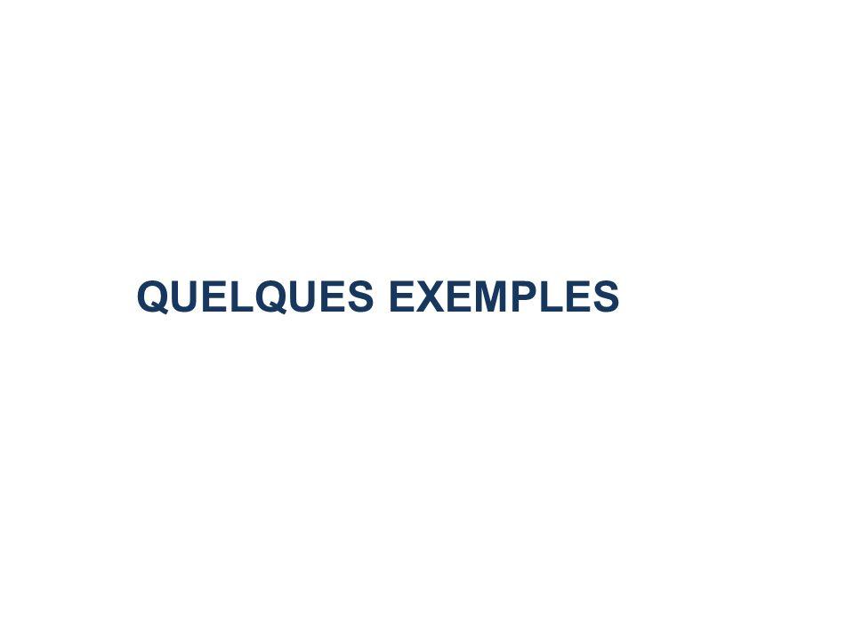 QUELQUES EXEMPLES