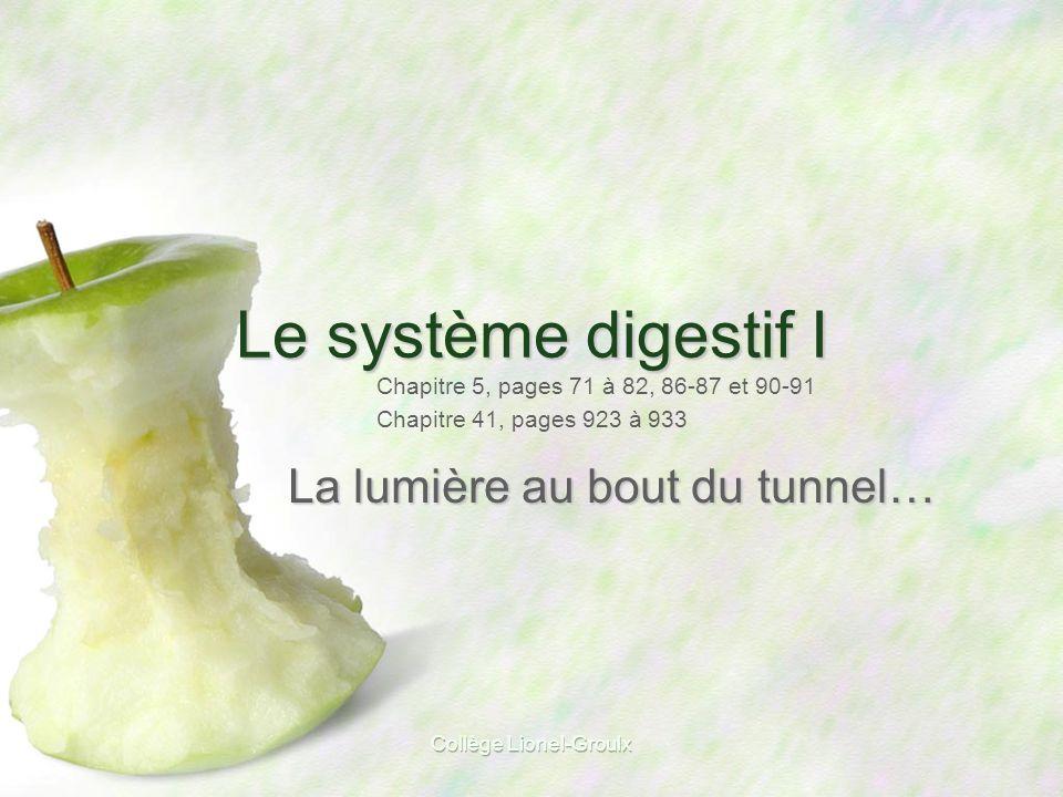 Collège Lionel-Groulx Protection du pancréas contre ses propres enzymes digestives p. 929