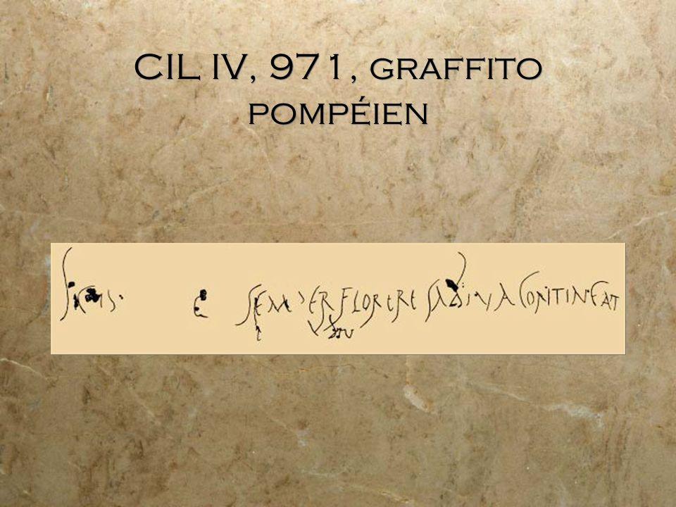 CIL IV, 971, graffito pompéien
