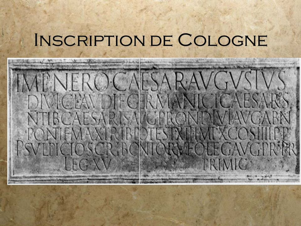 Inscription de Cologne