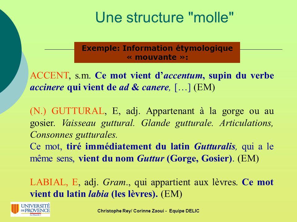 Une structure molle ACCENT, s.m.
