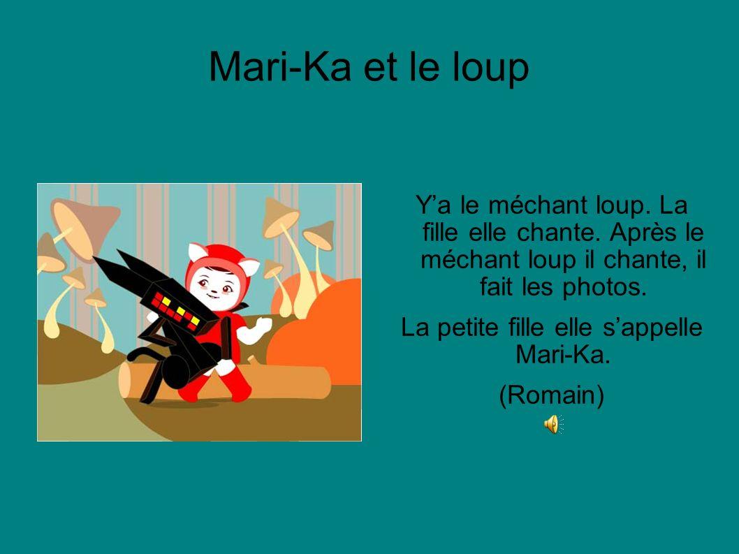 Mari-Ka et le loup Le loup avec Mari-Ka a fait des photos. (Dan)