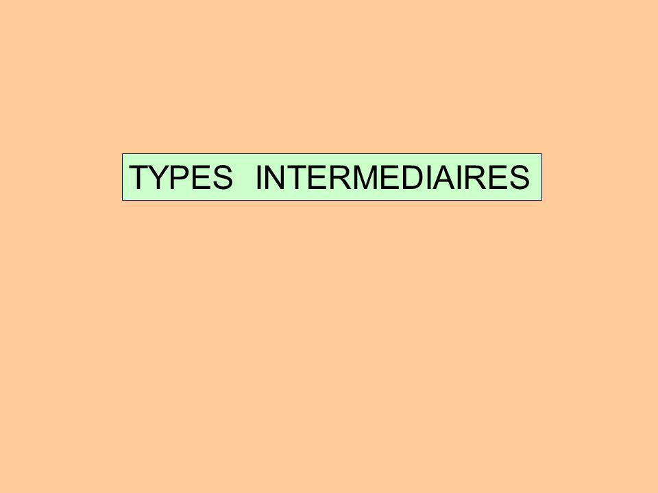 TYPES INTERMEDIAIRES
