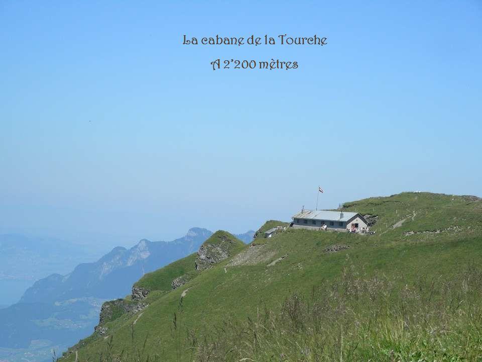 Cabane de la Tourche 2200 mètres Dans les Alpes Vaudoises Au pieds des magnifiques Dents de Morcles