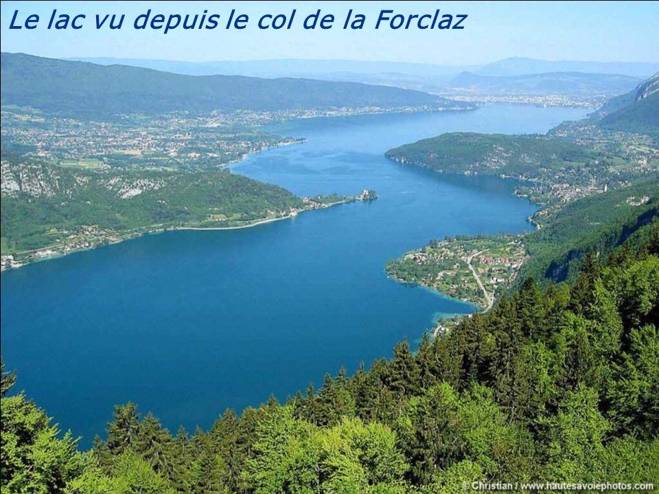 Le lac vu depuis le col de la Forclaz