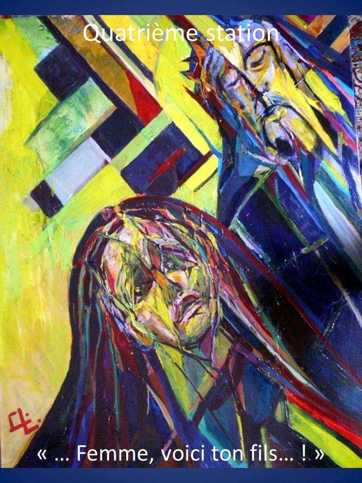 Jésus perdit léquilibre et saffala, pour la troisième fois sur le sol.