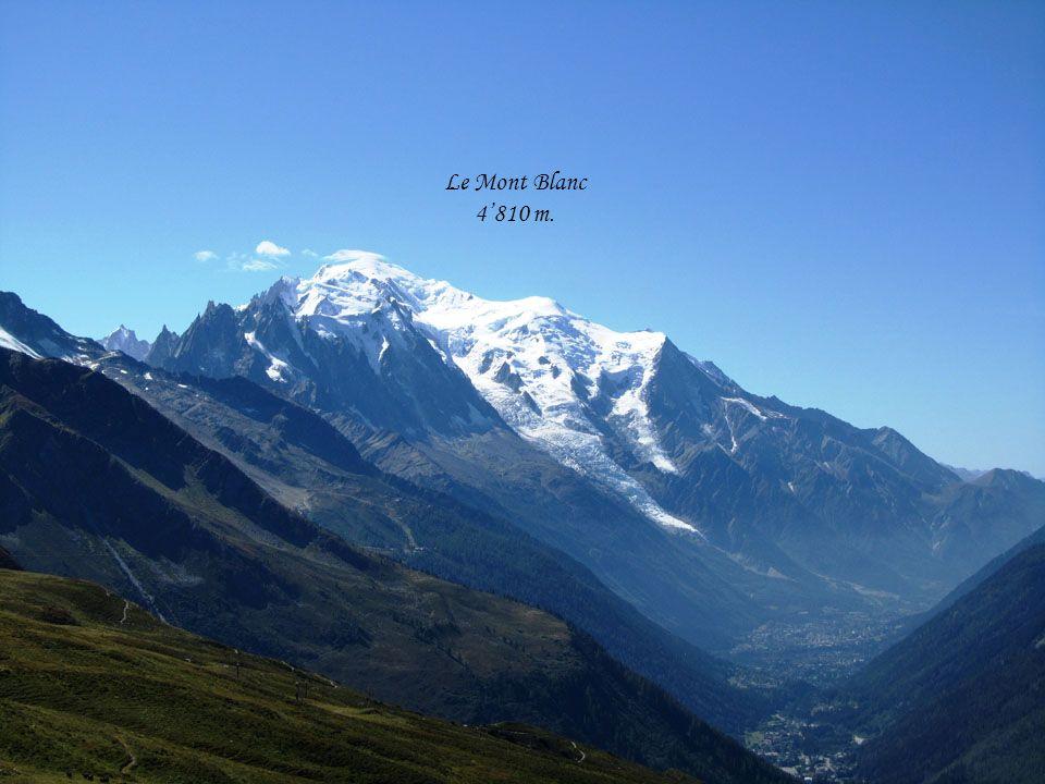 LAiguille verte 4122 m. Les Drus 3754 m.