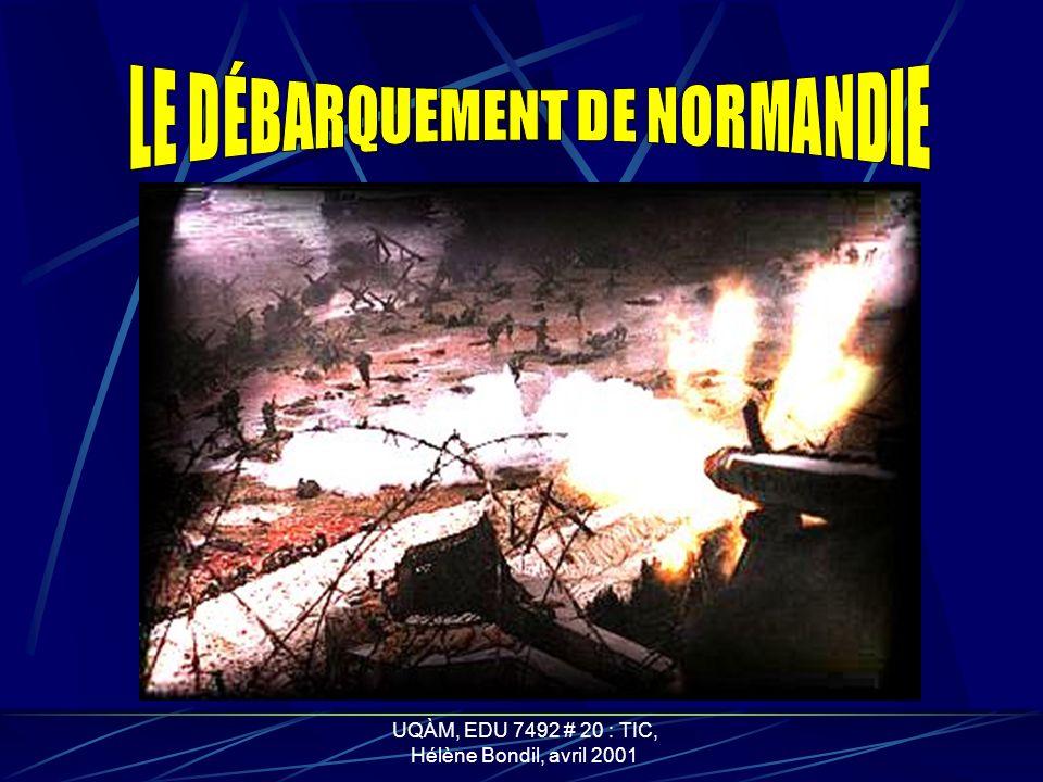 UQÀM, EDU 7492 # 20 : TIC, Hélène Bondil, avril 2001 LES CANADIENS EN ACTION