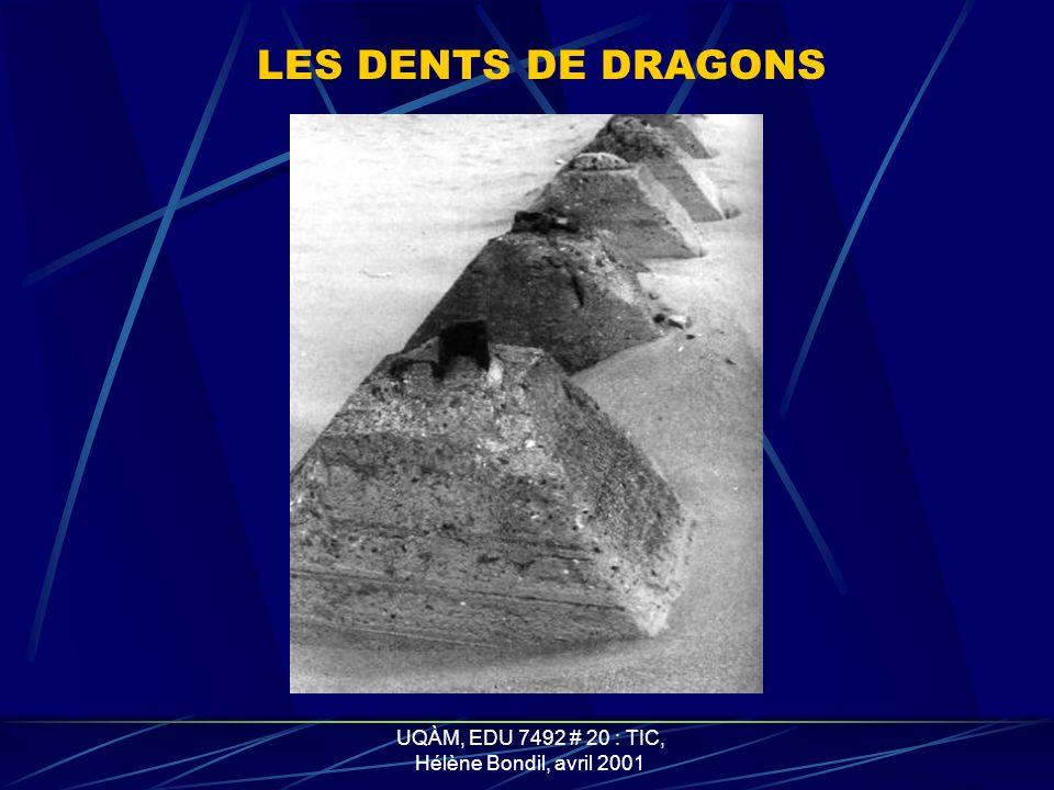 UQÀM, EDU 7492 # 20 : TIC, Hélène Bondil, avril 2001 LES TÉTRAÈDRES EN BÉTONS