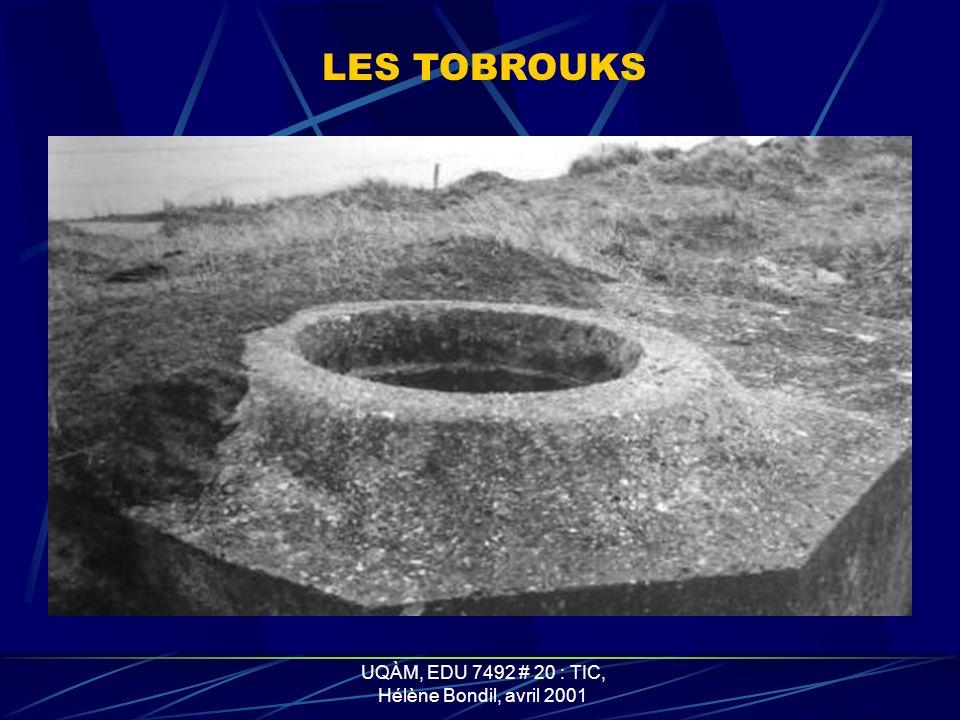 UQÀM, EDU 7492 # 20 : TIC, Hélène Bondil, avril 2001 LES CASEMATES